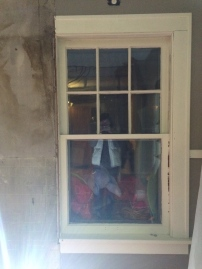 Oddest discovery - the window was never fully framed in!